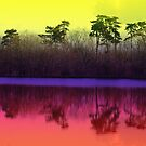 Rainbow Lake. by Marilyn Grimble