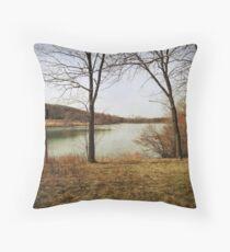 Keystone Lake Throw Pillow