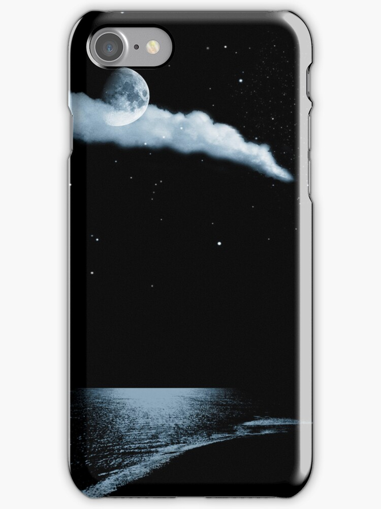 Moonlight beach for iphone by Nathalie Chaput