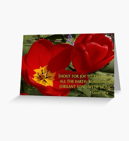 tulip shout! Greeting Card