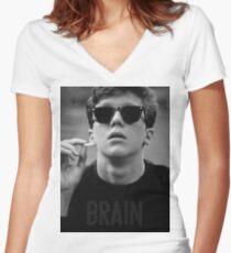 Gehirn - Der Frühstücksclub Tailliertes T-Shirt mit V-Ausschnitt