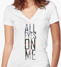 Tupac Shirt Women's Fitted V-Neck T-Shirt