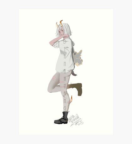 Horned School Girl Art Print
