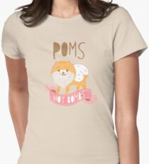 Poms Not Bombs Womens Fitted T-Shirt