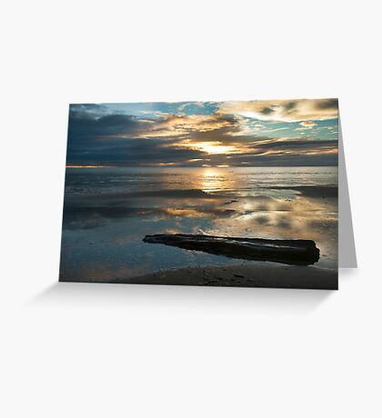 Washed Up - Etty Bay sunrise Greeting Card