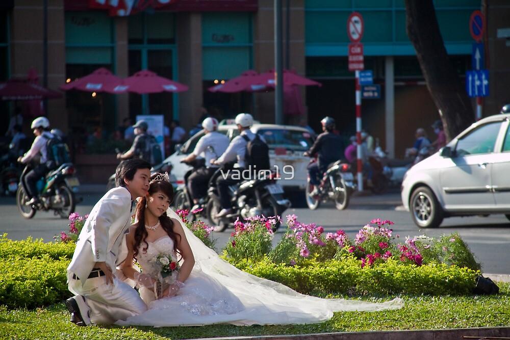 Vietnam. Ho Chi Minh City (Saigon). Bride and Groom. by vadim19