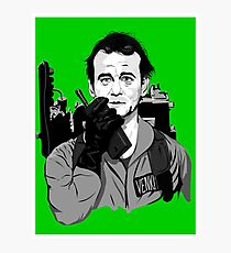 Ghostbusters Peter Venkman illustration Photographic Print