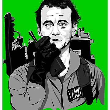 Ghostbusters Peter Venkman illustration by Feelmeflow