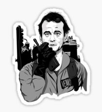 Ghostbusters Peter Venkman Bill Murray illustration Sticker