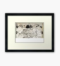 1700 Cellarius Map of Asia Europe and Africa according to Strabo Geographicus OrbisClimata cellarius1700 Framed Print