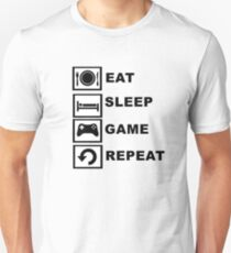 Eat, Sleep, Game, Repeat. Unisex T-Shirt