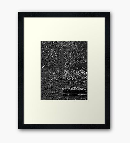 Green Heron from Menomonee River Framed Print
