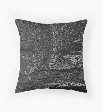 Green Heron from Menomonee River Throw Pillow