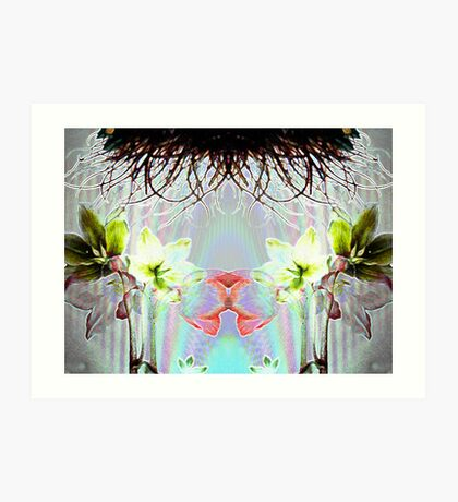Abstraction over a Flower #3 Art Print