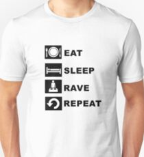 Eat, Sleep, Rave, Repeat. T-Shirt
