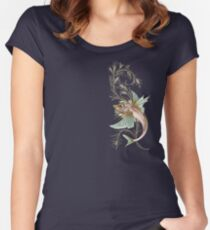 Fantasy Fish Art Nouveau Women's Fitted Scoop T-Shirt