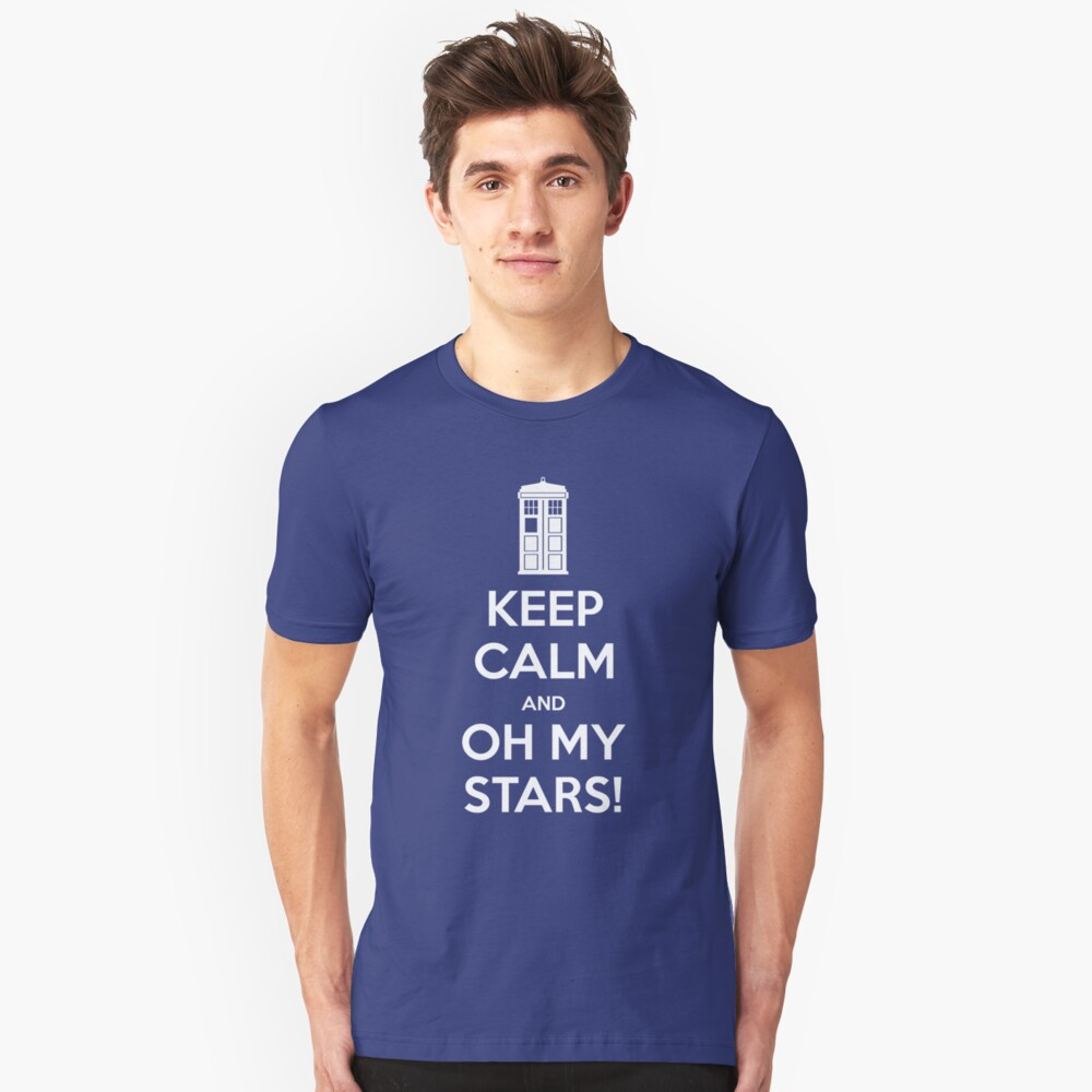 KEEP CALM and Oh my stars! Unisex T-Shirt Front