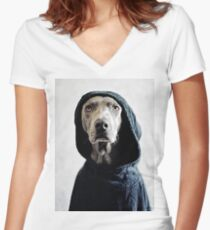 """""""The Dogside Project"""", The Origin. Women's Fitted V-Neck T-Shirt"""