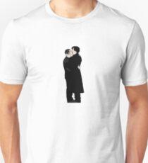 KISSING SHERLOCK AND JOHN/small Unisex T-Shirt