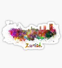 Zurich skyline in watercolor Sticker