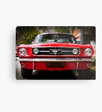 """Ford Mustang 65 """"The Red Pony"""" Metal Print"""