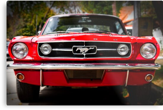 ford mustang 65 the red pony metalldruck von. Black Bedroom Furniture Sets. Home Design Ideas