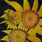 Three Sunflowers by Guy Wann