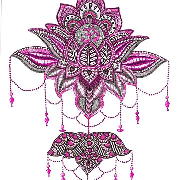 The ornate Pink Lotus by rkrishnappa