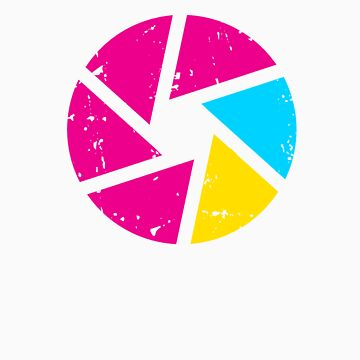 Coloured Iris Logo by photographytees