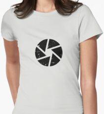 Iris Logo, black Women's Fitted T-Shirt