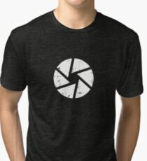 Iris Logo, White Tri-blend T-Shirt