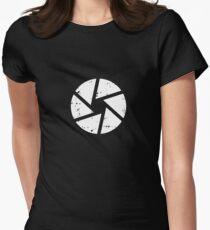 Iris Logo, White Women's Fitted T-Shirt