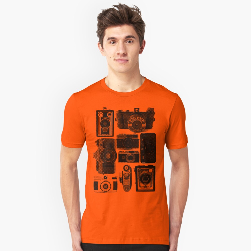 Old Cameras Unisex T-Shirt Front