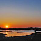 Sunset over Schouwen by Adri  Padmos
