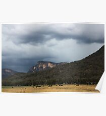 Glen Davis Mountains Poster