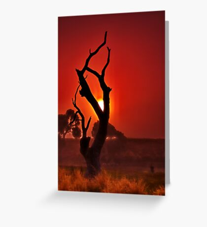 """""""Profile In The Mist"""" Greeting Card"""