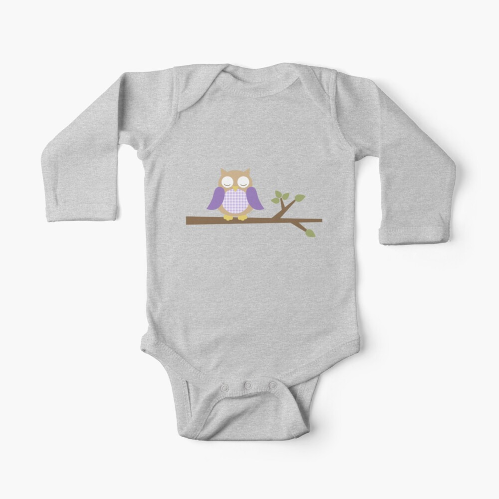 Spring Owl Long Sleeve Baby One-Piece