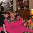 Women Having A Pajama Party by Linda Miller Gesualdo