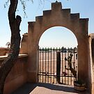 Garden arch, San Xavier del Bac by nealbarnett