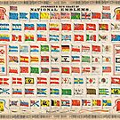 1864 Johnson Chart of the Flags and National Emblems of the World Geographicus Flags johnson 1864 by MotionAge Media