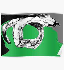 Snake Study II -(070413)- Digital art/mouse drawn/Program: Scribblertoo Poster