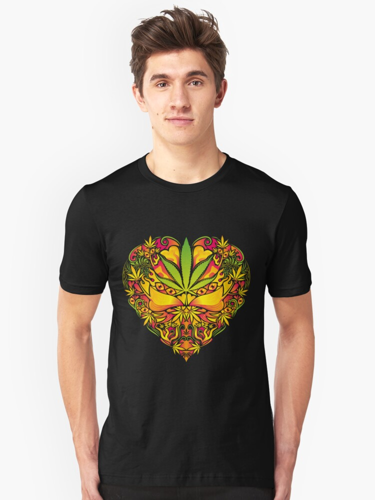 Love for Cannabis Unisex T-Shirt Front
