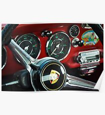 Porsche 356 Steering Wheel Poster