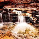 Waterfall, Hancock gorge by Colin White