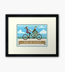 Me & You Bike Framed Print