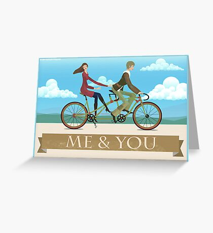 Me & You Bike Greeting Card
