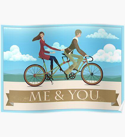 Me & You Bike Poster