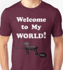Paintball. Welcome to My World. WHI. T-Shirt