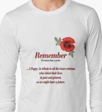 Remember Veterans Poppy Long Sleeve T-Shirt
