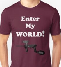 Paintball. Enter My World. WHI. T-Shirt